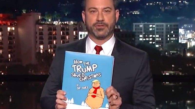 Jimmy kimmel hails Donald Trump's 'war on christmas' victory with spoof kids book