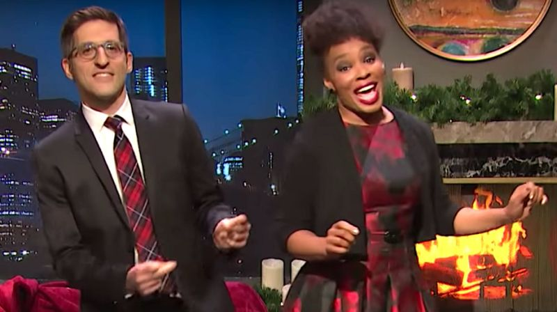 Seth meyers' 'late night' updates 'baby, It's cold outside' for 2018