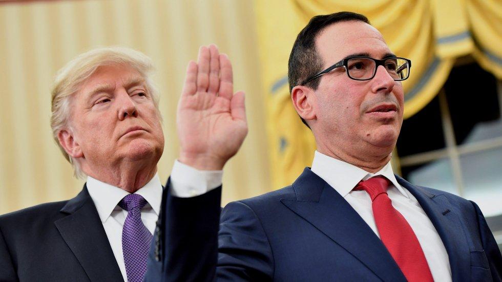 Donald Trump expresses confidence in 'very talented' Treasury Secretary Steven Mnuchin despite market slide