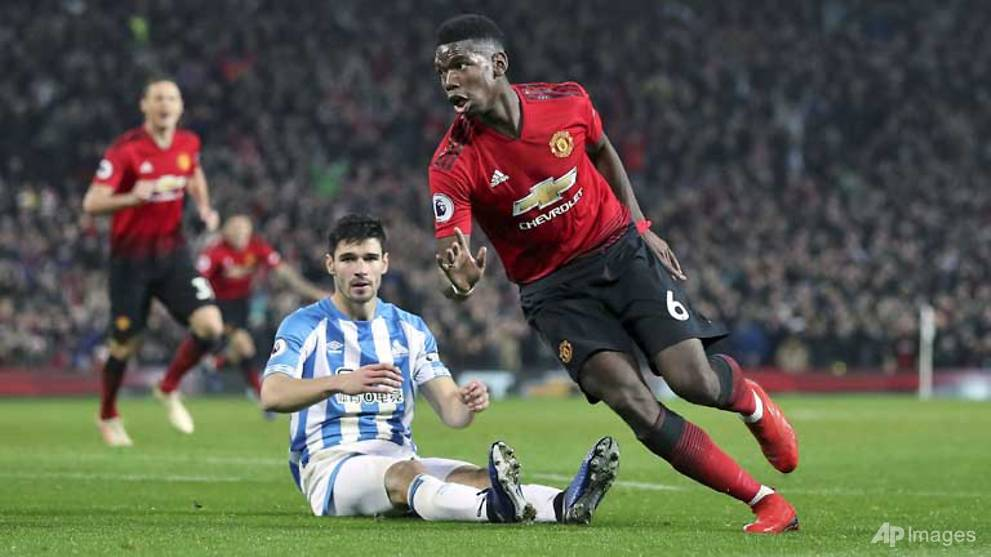 Football: Pogba strikes twice as Man Utd win on Solskjaer home debut