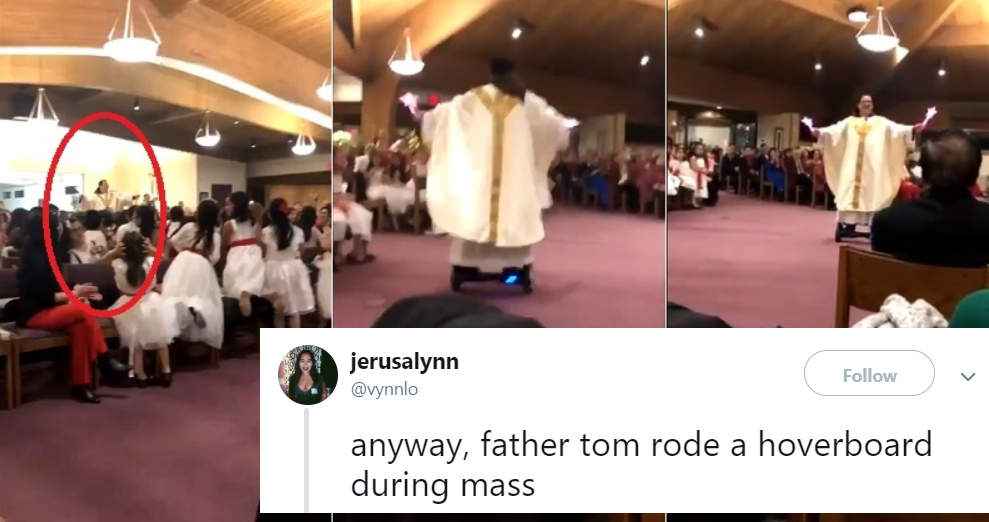 Priest at Viet American Church Goes Viral for Riding Hoverboard During Christmas Mass
