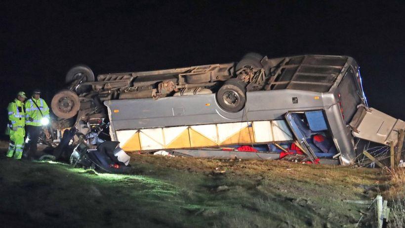 One dead and 23 hurt in minibus crash in Scottish Borders