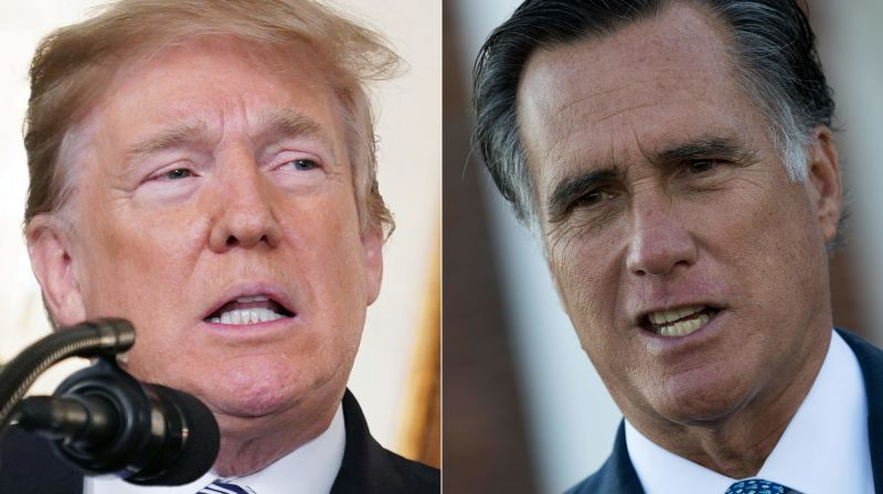 Donald Trump fires back at mitt romney: 'be a team player'