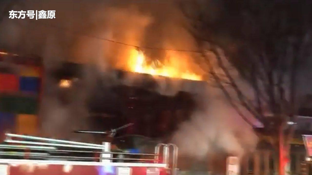 韩国首尔弘大闹市区元旦当天突发火灾,13店铺被烧毁!