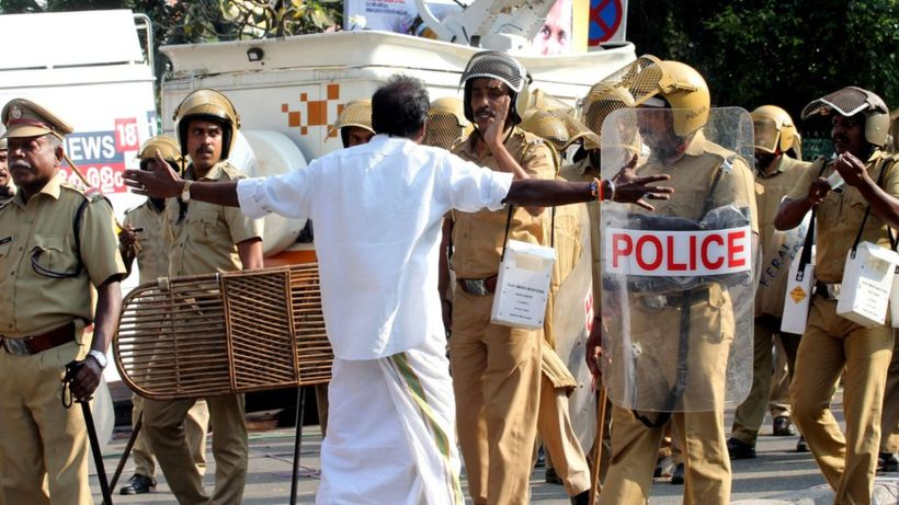 Sabarimala: India state shut down after women enter temple