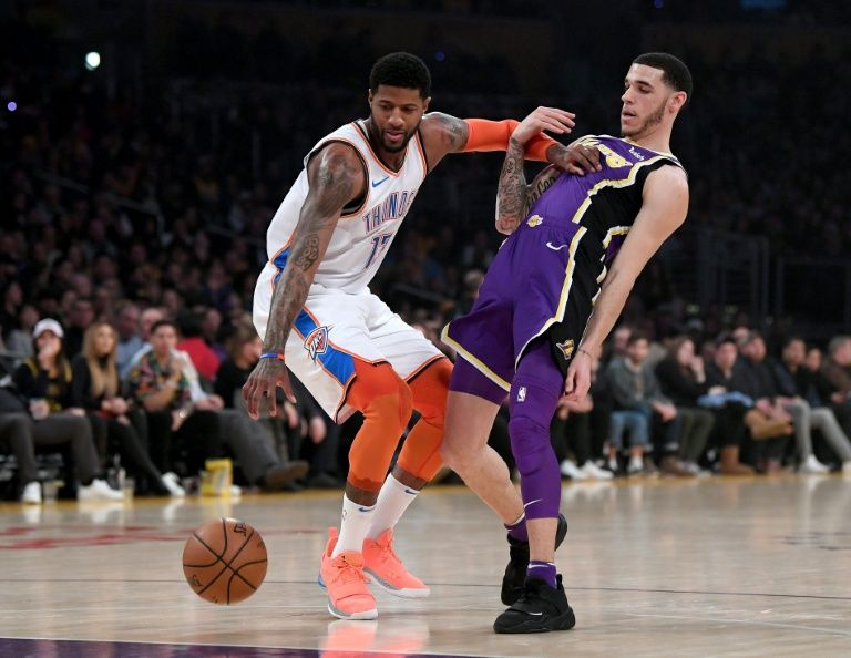George ignores boo boys as Thunder sink Lakers