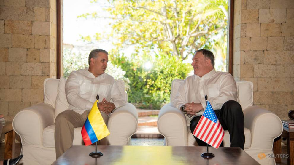 US deeply concerned about Colombia coca cultivation, Pompeo says