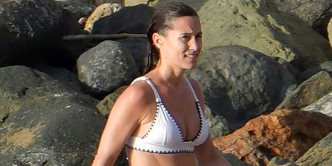 Pippa Middleton Sports the Cutest White Bikini in St. Barts with Her Family