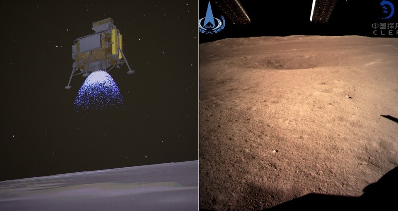 China Reveals FIRST EVER Photos of Dark Side of the Moon from Chang'e 4