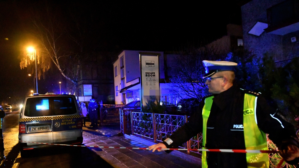 Five teenage girls die as fire erupts in Polish 'escape room', where players were deliberately locked in