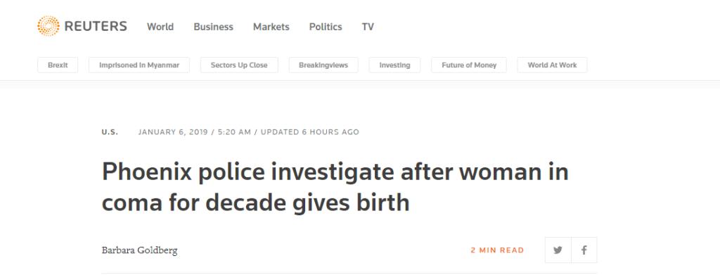 美国女子昏迷十年竟怀孕生子 警方介入调查