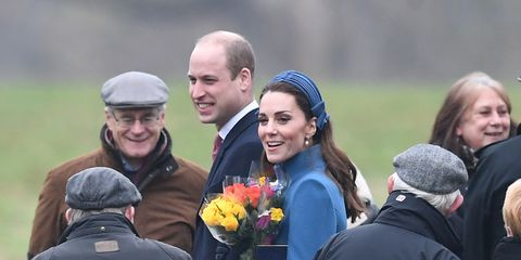 Kate Middleton Wears a Polka Dot Dress with a Catherine Walker Coat to Attend Church