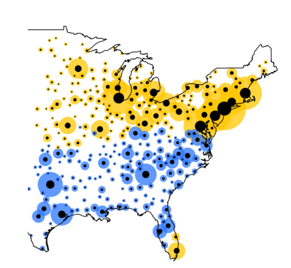 """Why the """"y'all"""" line divides the US north from south, not east from west"""
