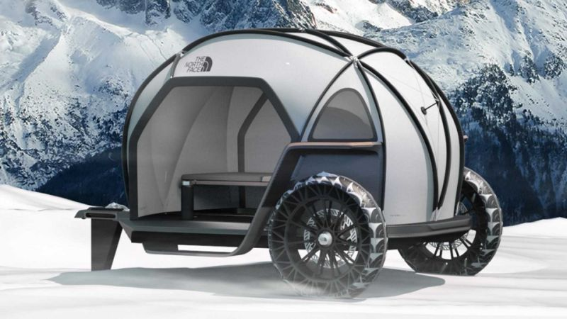 BMW and North Face Camper Concept looks like Isetta for the Arctic