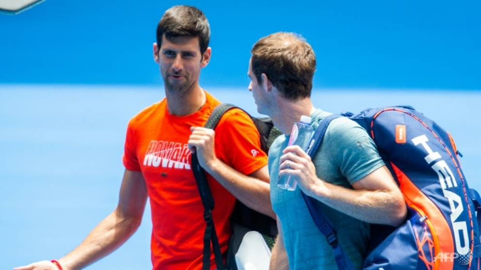 Tennis: Djokovic thrashes Murray in Open practice match