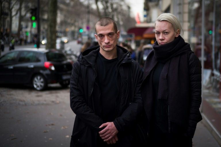 French trial opens for radical russian artist WHO set bank ablaze