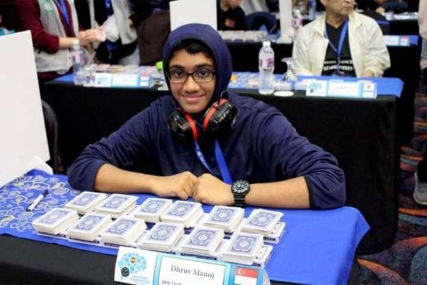 12-year-old Singaporean is a 'memory wizard' at world championship