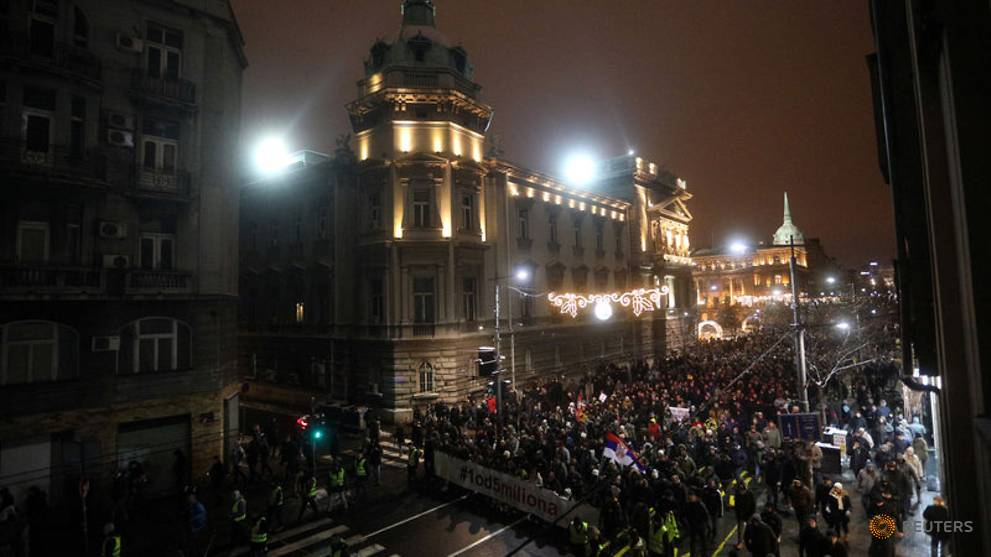 Protests against Serbia's President Vucic enter sixth week