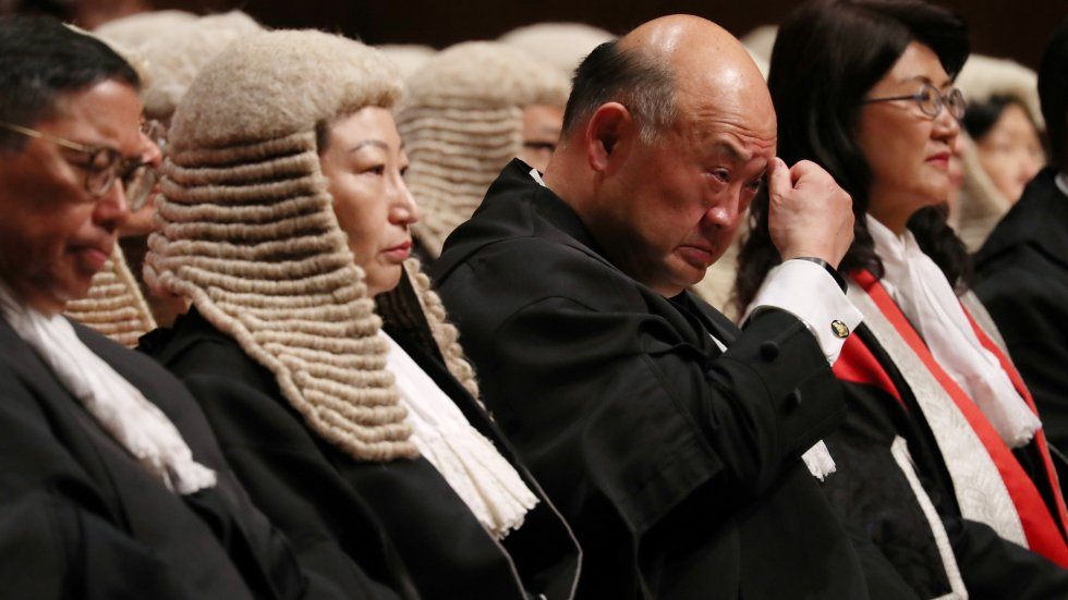 National anthem being played at swearing-in ceremonies for judges will not affect judicial independence, says Hong Kong chief justice