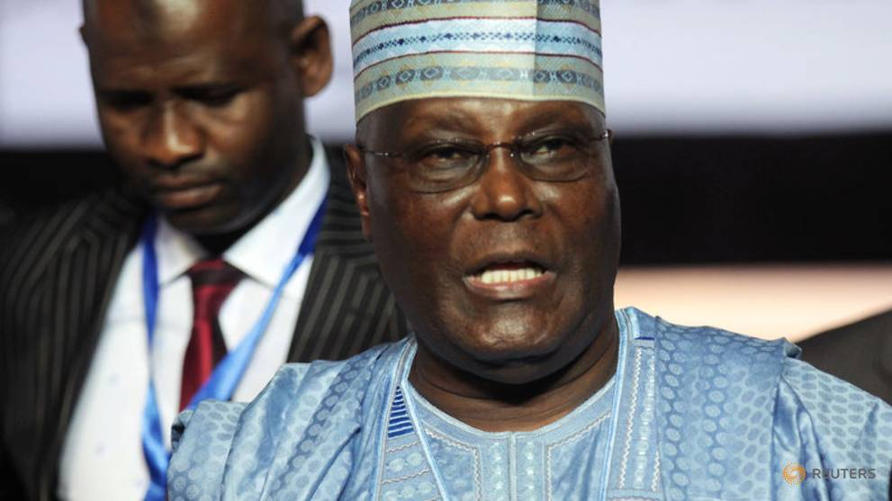 Nigeria opposition candidate Abubakar says committed to privatising state oil firm