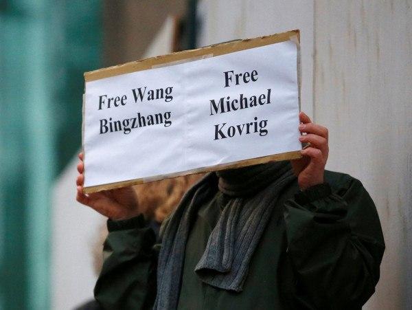 加拿大就康明凯受审发起抗议行动 召见中国大使(图)