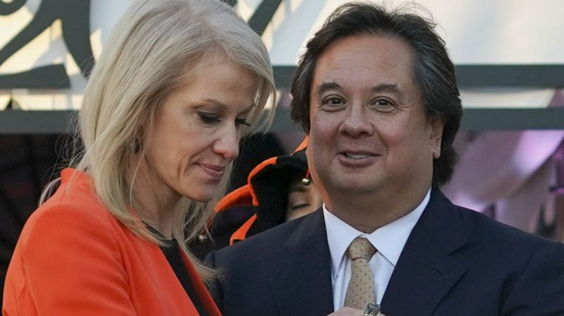 George Conway's latest attack on Donald Trump will not go down well at home