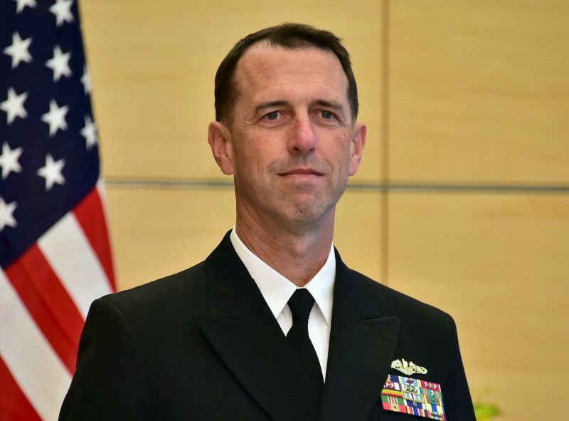 US Navy chief does not rule out sending aircraft carrier through Taiwan Strait