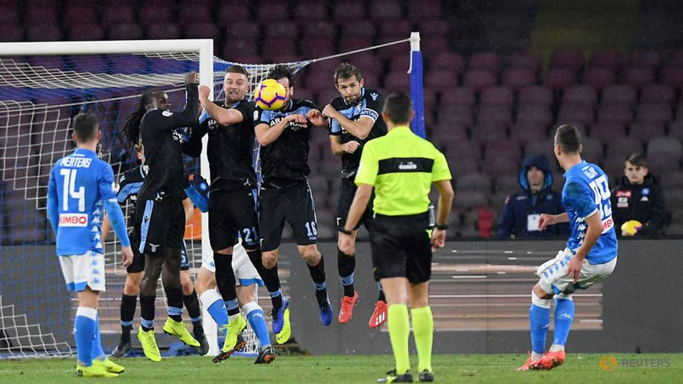 Red-carded Acerbi's 149-match run ends as Napoli beat Lazio