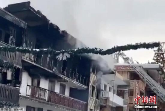 法国阿尔卑斯山滑雪胜地发生大火 致2死22伤