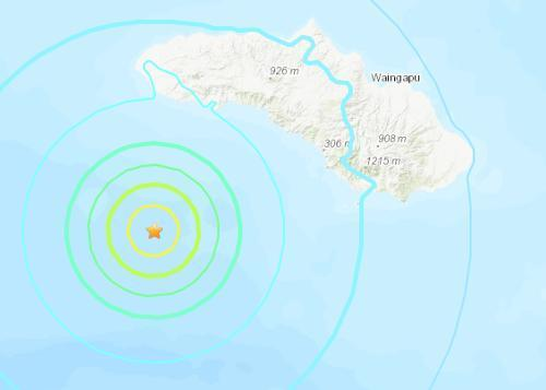 印尼松巴岛附近发生6.4级地震 不会引发海啸