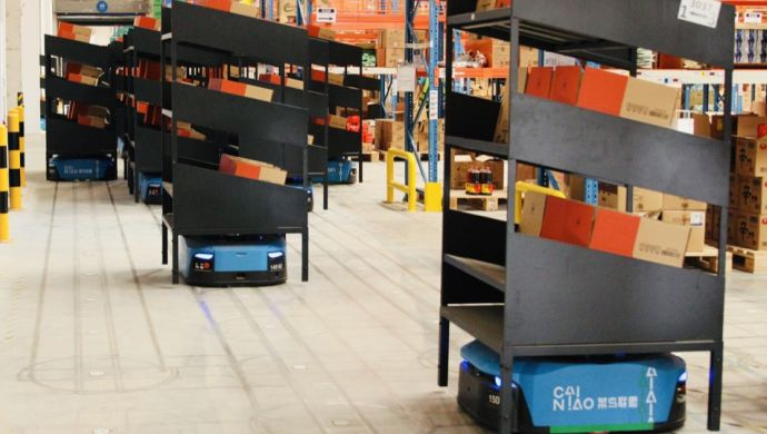 Alibaba launches China's biggest robotic warehouse ahead of Singles Day
