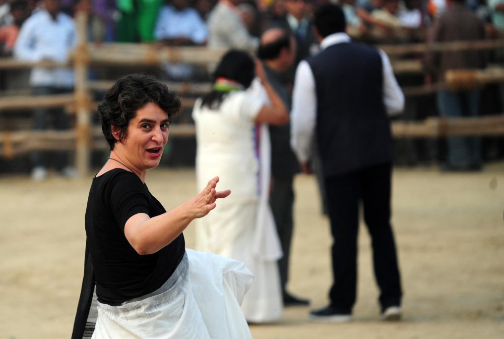 Priyanka follows Nehru-Gandhi footsteps into Indian politics