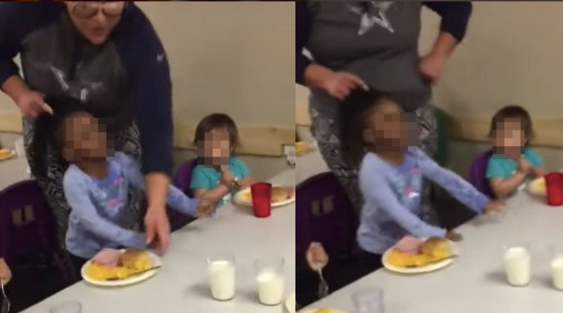 Parents furious after video shows Texas daycare worker pulling 3-Year-old's hair to force her to eat