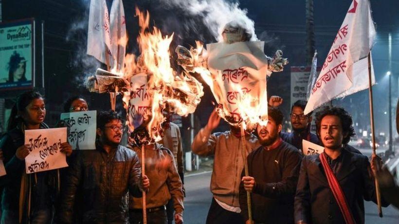 Assam citizenship bill: Anti-migrant protests rock north-east India