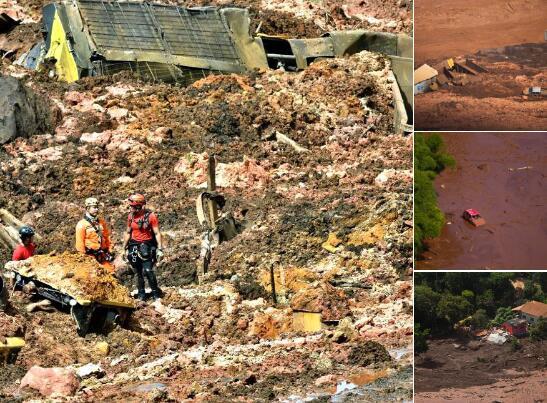 巴西一大坝垮塌引发泥石流 至少50死超200人失踪