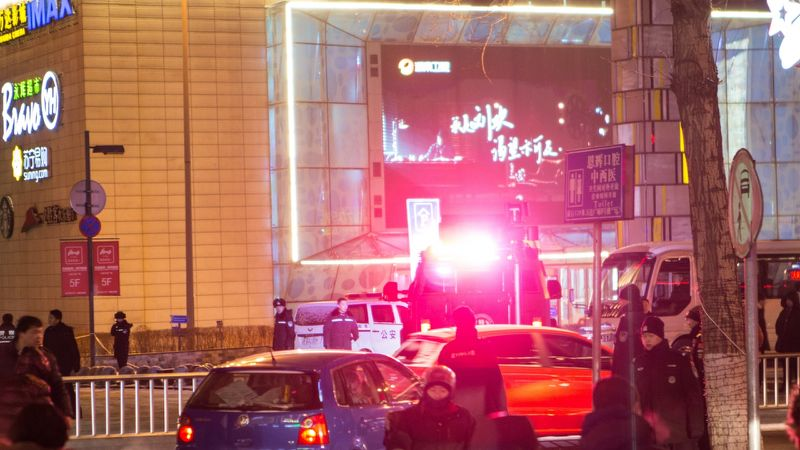 Explosions at Chinese shopping centre blamed on terminally ill murder suspect