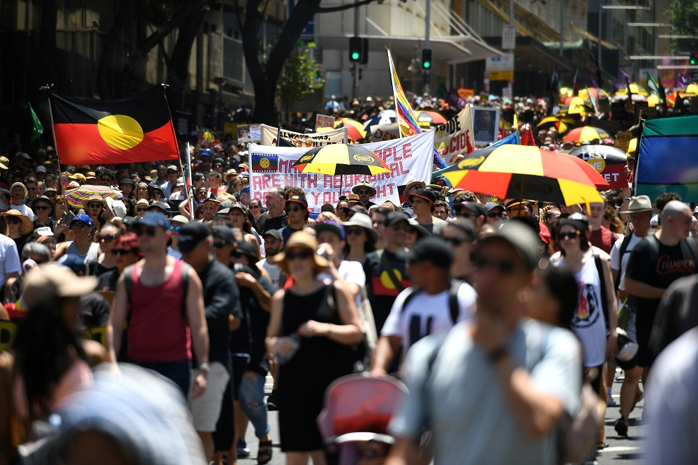Thousands protest Australia Day legacy