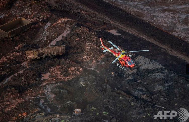 巴西矿坝决堤事故已致34人死亡 现场触目惊心
