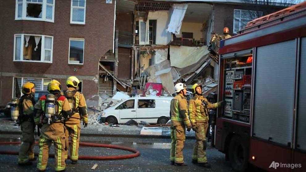 Nine injured in Dutch gas blast building collapse