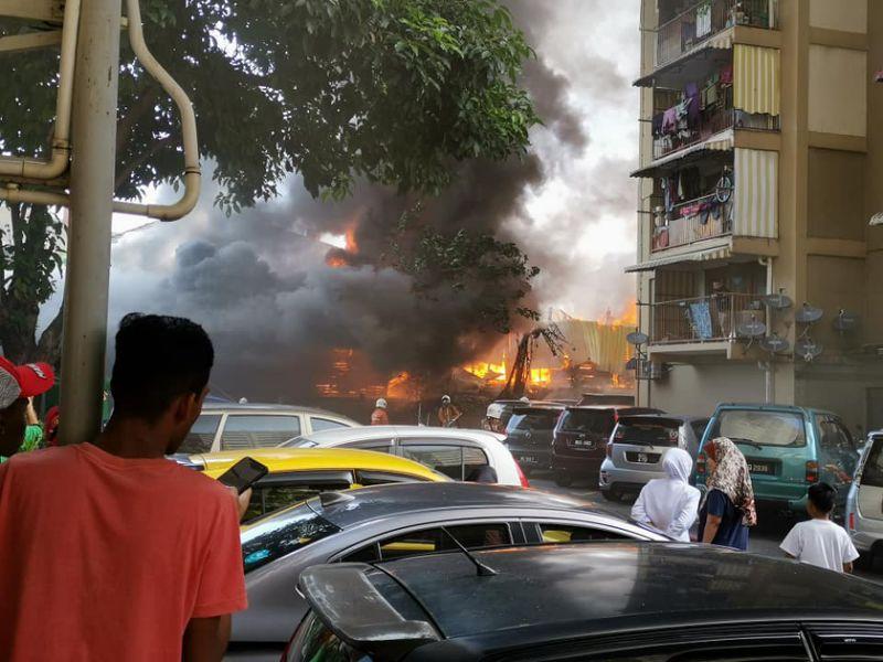 Massive fire in Bangsar longhouse sees several families left homeless