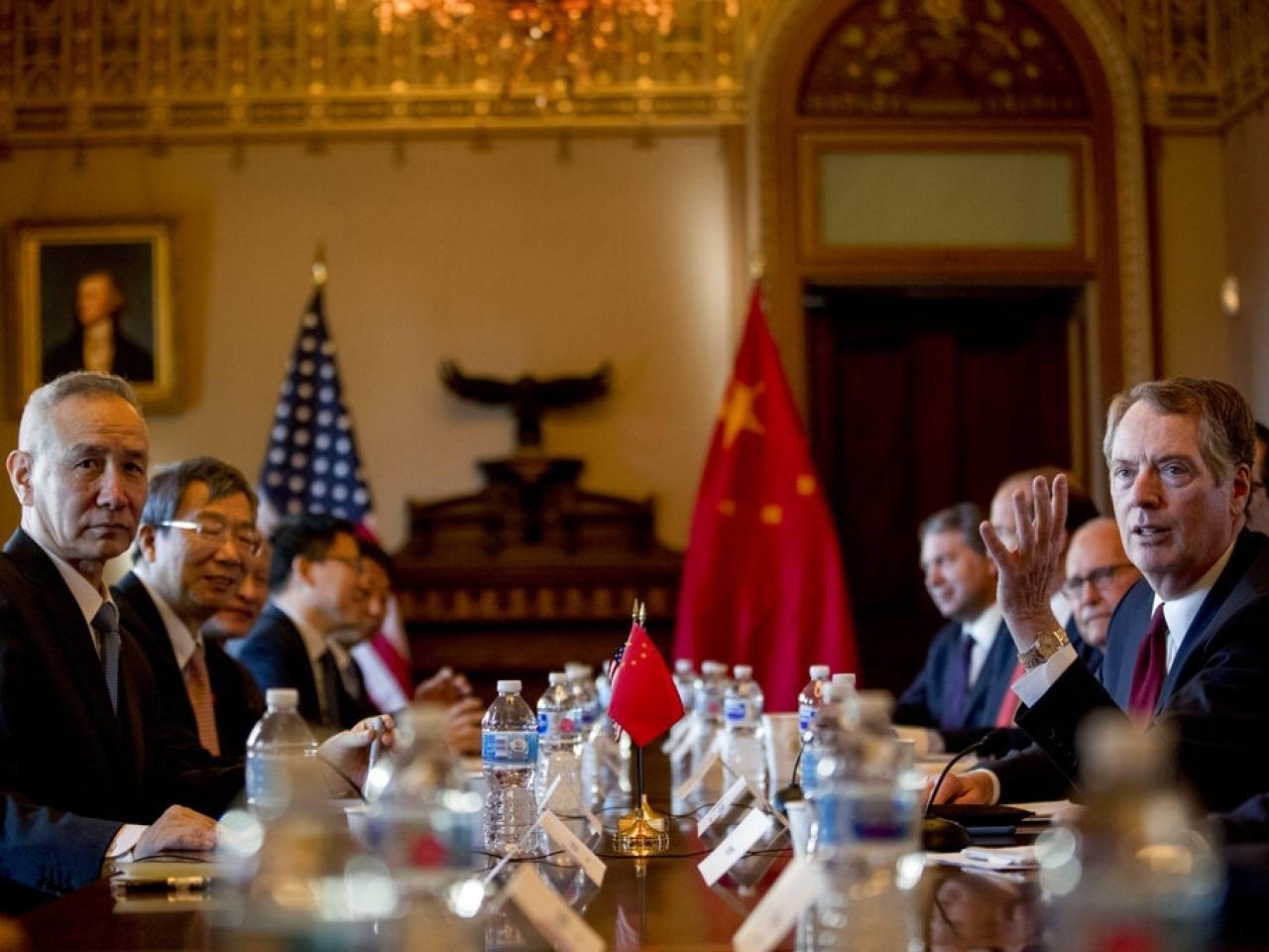 中美贸易代表展开新一轮贸易谈判