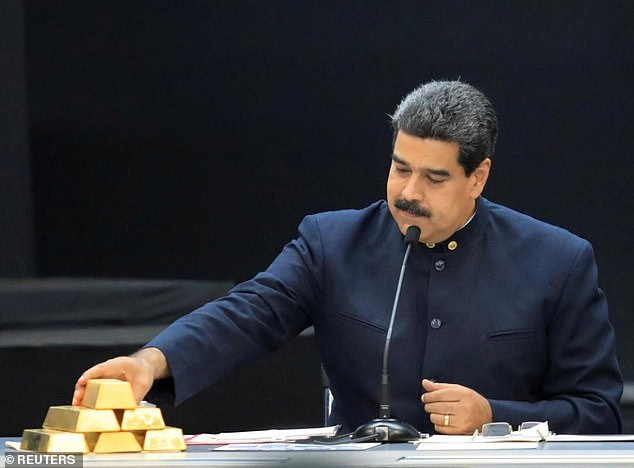 Nicolas Maduro will sell $640million of Venezuelan gold to the UAE in return for cash to buy basic goods as Russia denies being in contact with opponent Juan Guaido