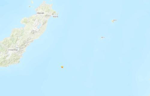 印尼东北部海域发生5.2级地震 震源深度36.6公里