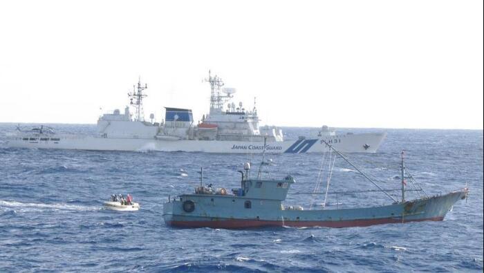 日媒:中国渔船进入日本专属经济区 船长被扣