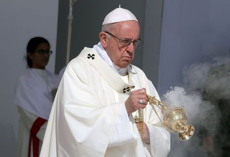 Pope denounces 'scourge' of human trafficking and slavery