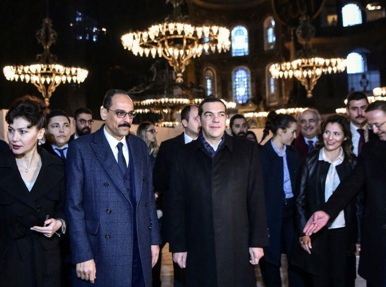 Greek PM makes symbolic visit to Istanbul's disputed hagia sophia museum