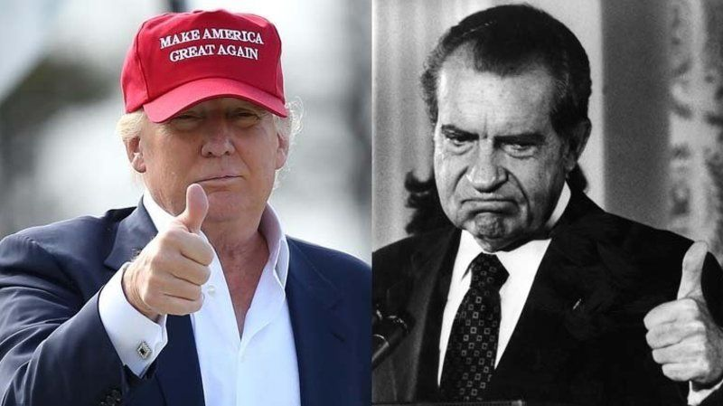 Nixon also griped about investigations in his speech. Here's what happened next.