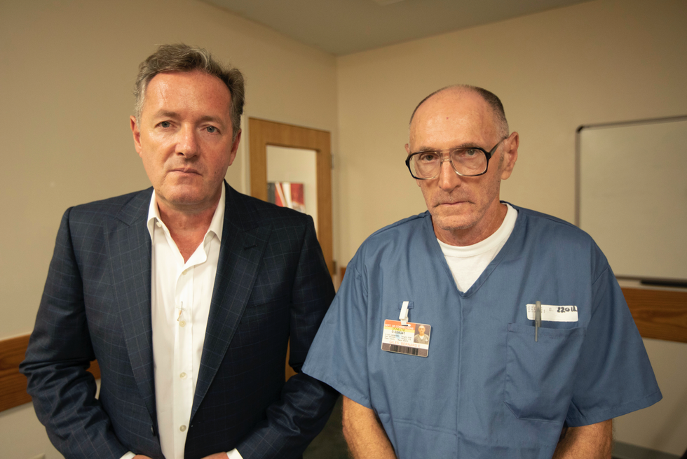Viewers Spot Potential Weapon On Serial Killer During Piers Morgan Interview