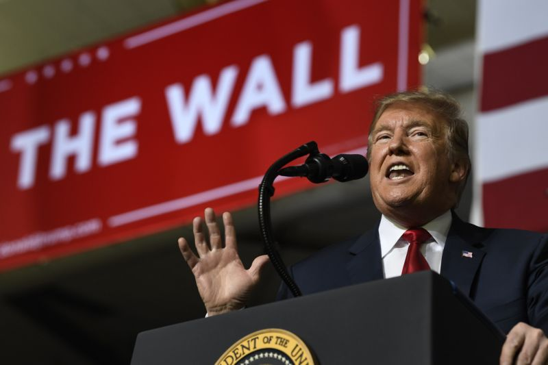 Trump doubles down on border security at rally: 'walls save lives'