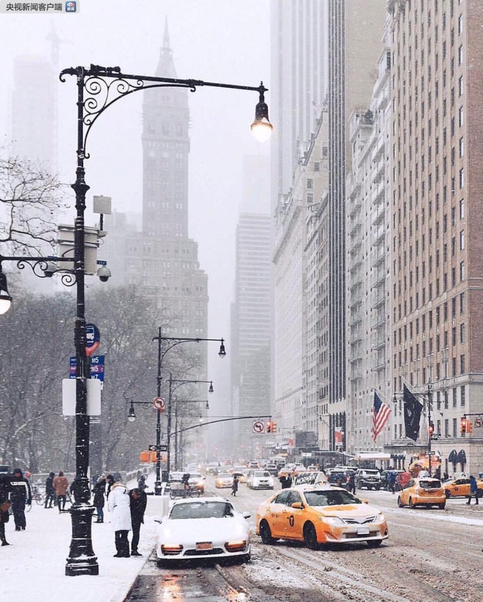 纽约州遭受强风降雪 数百架航班被取消